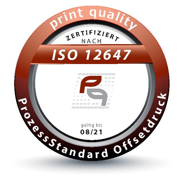 Siegel Zertifizierung ISO 12647
